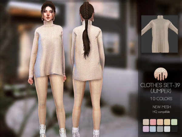 The Sims Resource: Clothes SET 39 jumper by busra tr