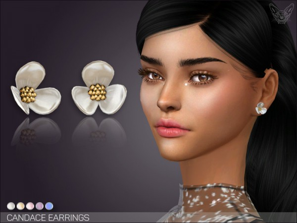 The Sims Resource: Candace Earrings by feyona