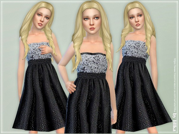 The Sims Resource: Glitter Dress for Girls by lillka