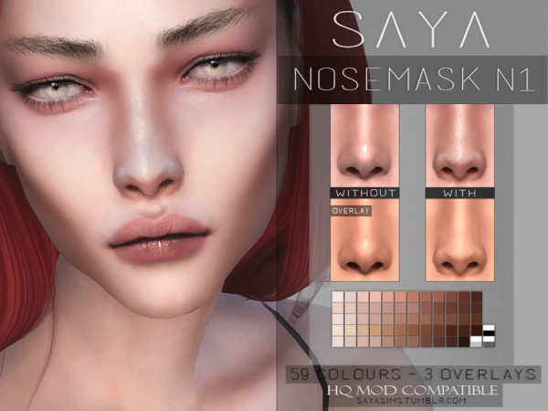 The Sims Resource: Nosemask N1 by SayaSims