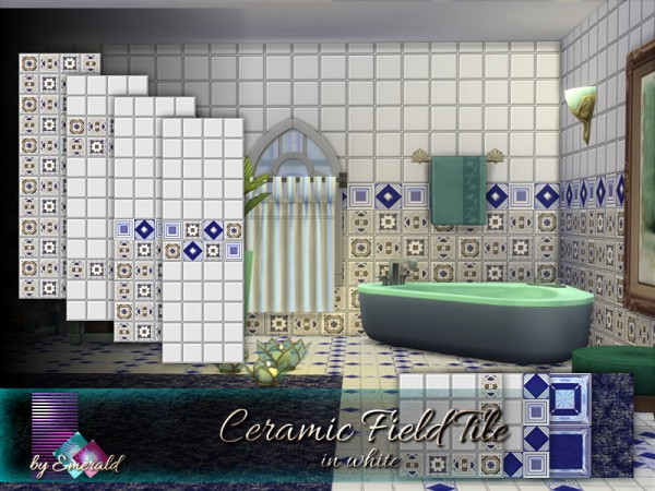 The Sims Resource: Ceramic Field Tile in white by emerald