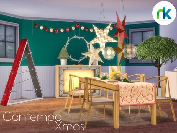 The Sims Resource: Contempo Xmas Dining by Nikadema
