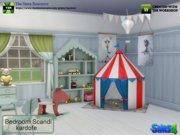 The Sims Resource: Bedroom Scandi by kardofe