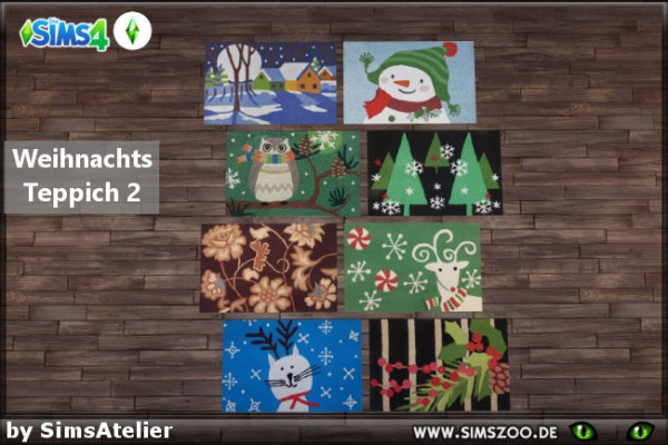 Blackys Sims 4 Zoo: Christmas carpet 2 by SimsAtelier