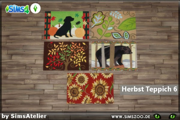 Blackys Sims 4 Zoo: Autumn carpet 6 by  SimsAtelier