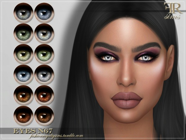The Sims Resource: Eyes N67 by FashionRoyaltySims