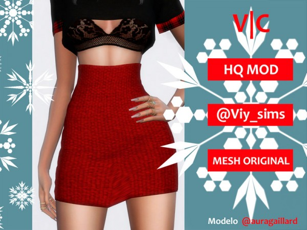 The Sims Resource: Skirt Christmas by Viy Sims