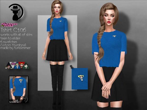 The Sims Resource: Powerpuff Girls T shirt C106 by turksimmer