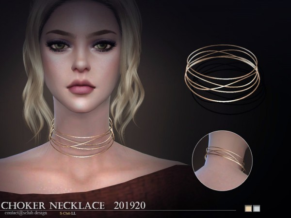 The Sims Resource: Necklace 201920 LL by S Club