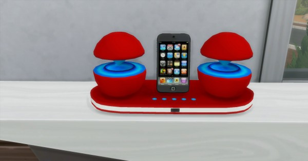 Mod The Sims: Futuristic iPod Docking Station by AdonisPluto