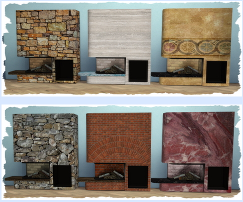 All4Sims: Kamin   fireplace Glass Tank