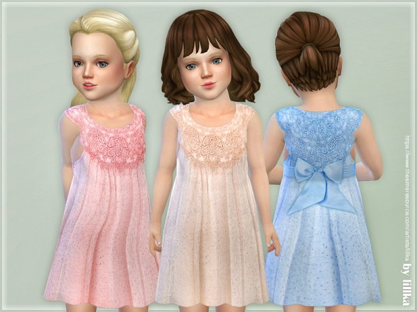 The Sims Resource: Estella Dress for Toddler Girls by lillka