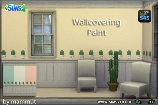 Blackys Sims 4 Zoo: Wall Ccacti 2 by mammut