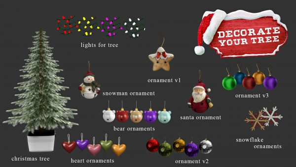 Leo 4 Sims Decorate Your Tree Sims 4 Downloads