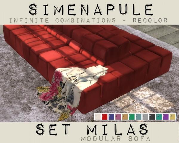 Simenapule: Modular Sofa   Velvet Recolored