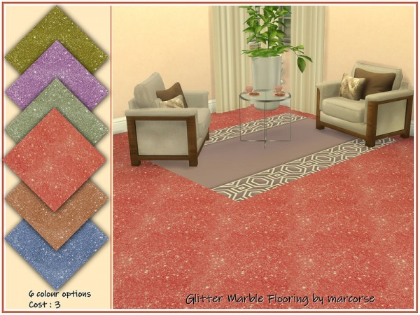 The Sims Resource: Glitter Marble Flooring by marcorse