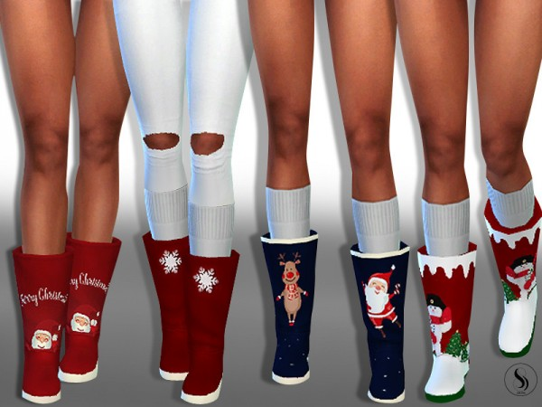 The Sims Resource: New Year Sweety Home Boots by Saliwa