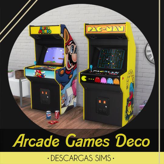 Descargas Sims: Arcade Games Deco