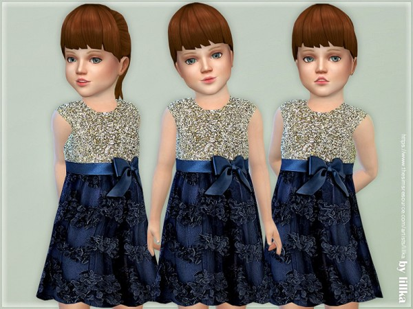 The Sims Resource: Tazanna Dress for Toddler by lillka