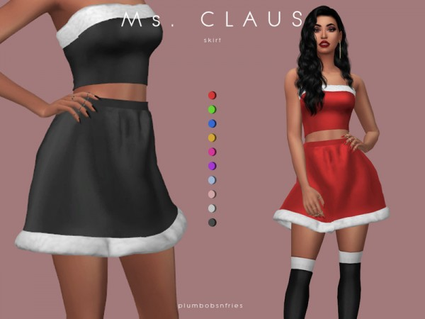 The Sims Resource: Claus skirt by Plumbobs n Fries