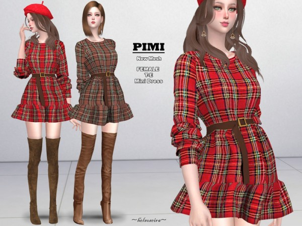 The Sims Resource: PIMI   Mini Dress by Helsoseira