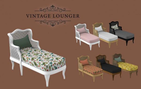 Leo 4 Sims: Vintage Lounger