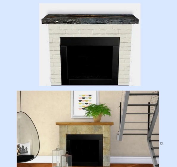 All4Sims: Fireplace 3 by Oldbox