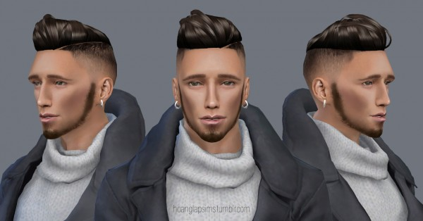 Hoanglap Sims: Slickback Undercut hair
