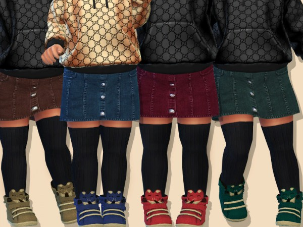 The Sims Resource: Denim Skirt For Toddler Girls by Pinkzombiecupcakes