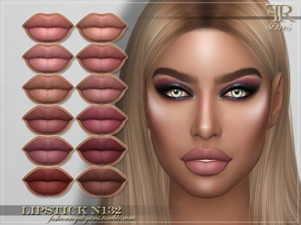 The Sims Resource: Lipstick N132 by FashionRoyaltySims