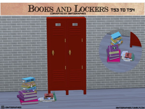 Simtographies: Books and Lockers