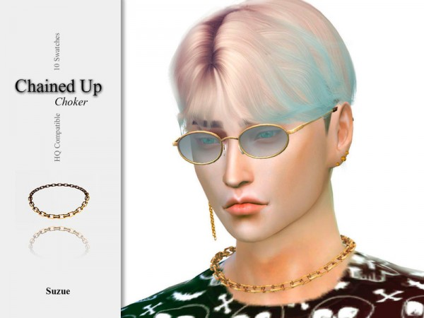 The Sims Resource: Chained Up Choker by Suzue