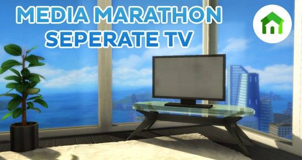 Mod The Sims: Tiny Living Media Marathoner Television Separated! by simsi45
