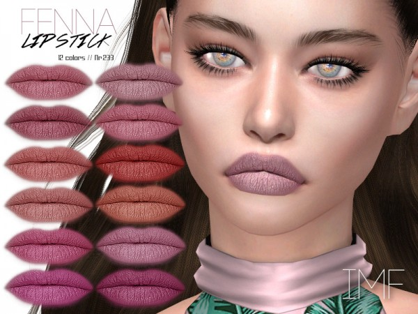 The Sims Resource: Fenna Lipstick N.233 by IzzieMcFire