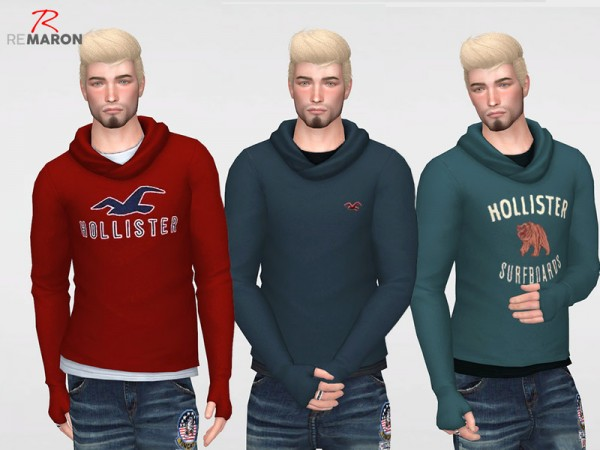 The Sims Resource: Hollister Sweater for men by remaron
