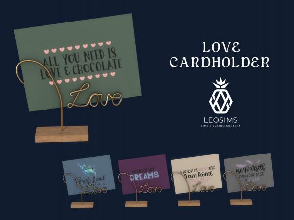 Leo 4 Sims: Love Cardholder