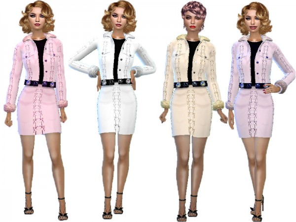 The Sims Resource: Skirt and top fur set by TrudieOpp