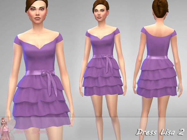 The Sims Resource: Dress Lisa 2 by Jaru Sims
