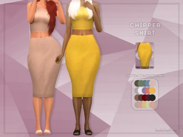 The Sims Resource: Chipper Skirt by Kouukie