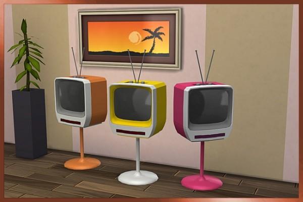 Black le: Retro boob tube   TV  by  Cappu