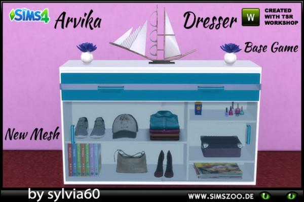 Blackys Sims 4 Zoo: Arvika Dresser by sylvia60