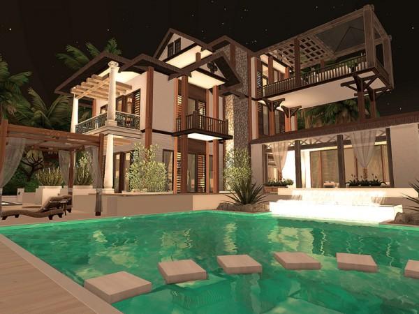 The Sims Resource: Sulani Beach Villa No CC by Sarina