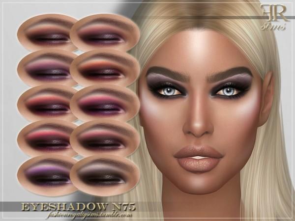 The Sims Resource: Eyeshadow N75 by FashionRoyaltySims
