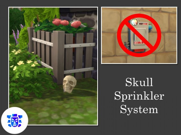 Mod The Sims: Skull Sprinkler System by Teknikah