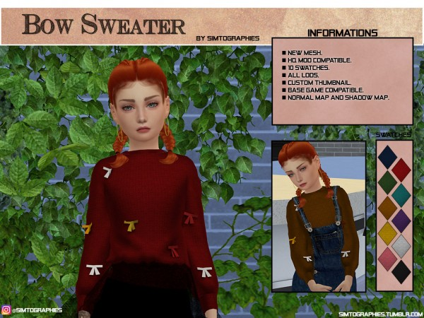 Simtographies: Bow Sweater