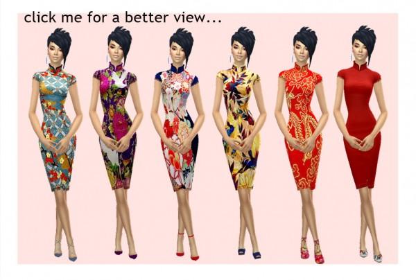 Sims 4 Sue: Cheongsam Dress