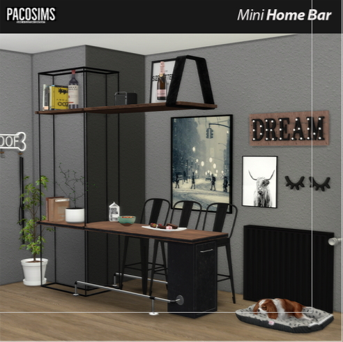 Paco Sims: Mini Home Bar