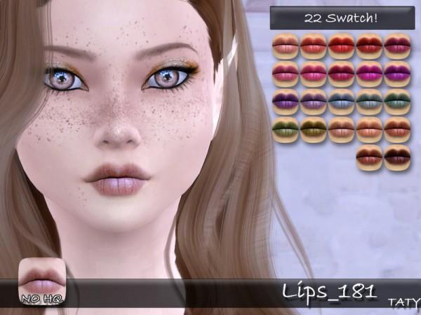 The Sims Resource: Lips 181 by tatygagg
