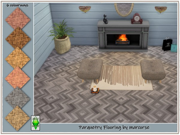 The Sims Resource: Parquetry Flooring by marcorse