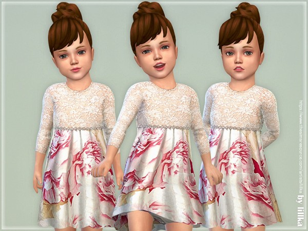 The Sims Resource: Sandy Dress for Toddlerby lillka